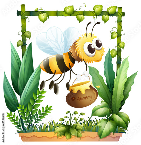 A bee with a honey