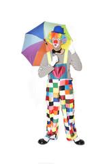 Clown mit erhobenem Zeigefinger