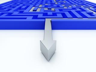 Solved maze