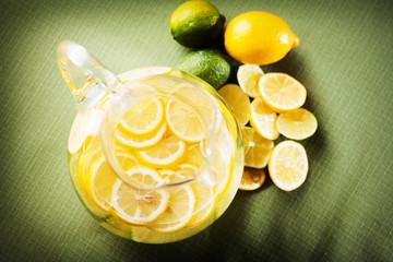 Lemonade with lemons and limes