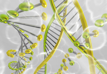 Ilustración digital de un ADN