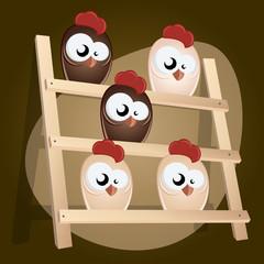 huhn im hühnerstall