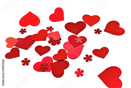 A group of red hearts.