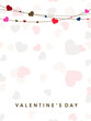 Valentine's Day greeting card or gift card with seamless colorfu