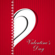 Valentine's Day love card or greeting card with heart design. EP