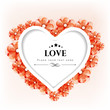 Valentines Day greeting card or gift card with floral decorative
