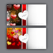 Valentine's Day greeting card with hearts and red ribbon. EPS 10