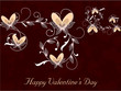 Happy Valentines Day background with floral decorated hearts. EP