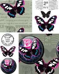 Bold Butterfly Patterns and Elements