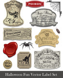 Fun Halloween Spoof Labels Set 2