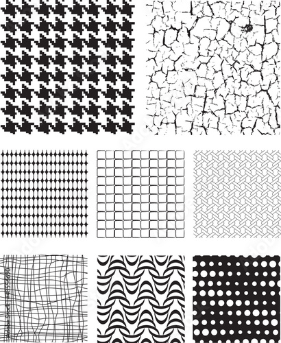 Seamless Repeat Vector Pattern Textures and fills.