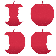 Red apple profile bites