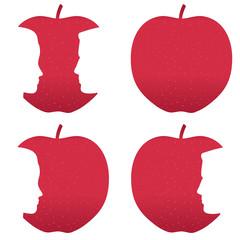 Red apple profile bites