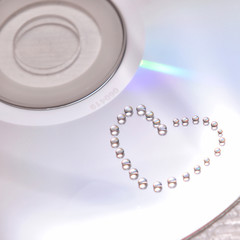 water heart on cd