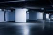 underground parking garage - colorized photo
