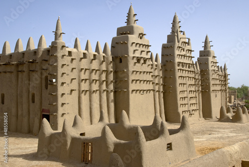 The Great Mosque of Djenné. Mali. Africa