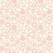 Chemistry symbol seamless pattern