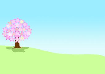桜が咲く風景