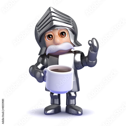 Knight has a cup of tea between battles