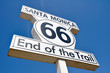Route 66 end of the Trail sign in Santa Monica (California)
