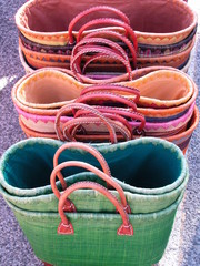 Straw colorful bags