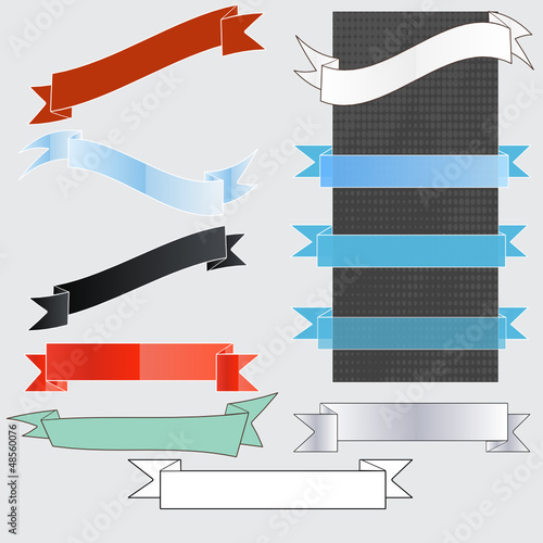 Banners and ribbons background