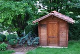 Wooden tool shed