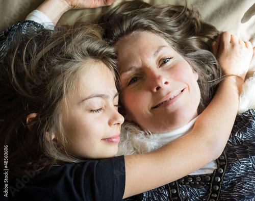 tendresse mère fille