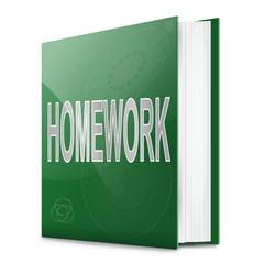Homework book.