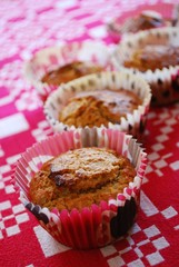 Homemade vegetarian muffins