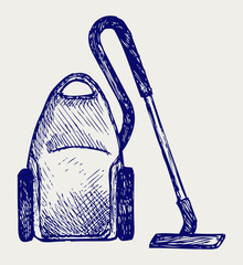 Vacuum cleaner. Doodle style