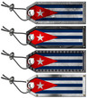 Cuba Flags Set of Grunge Metal Tags