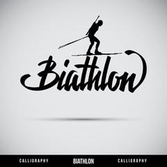 Biathlon hand lettering - handmade calligraphy
