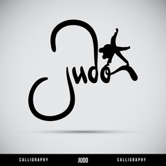 Judo hand lettering - handmade calligraphy