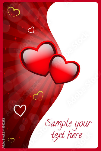 Abstract Valentines Day background with hearts