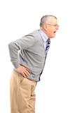 An angry senior gentleman shouting