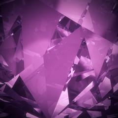 Luxury purple crystal facet background
