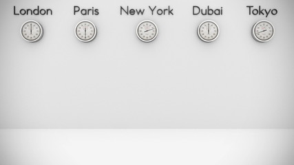 World Clocks Background with space for text