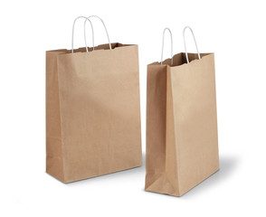 Two brown paper bags