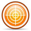 target orange glossy icon on white background
