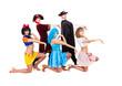 Dancers in carnival costumes