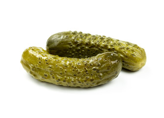 Two pickled cucumbers
