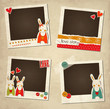 St.Valentine's Day photo frames with rabbits
