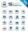 White Squares - Transportation icons