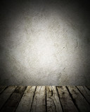 vintage wood and wall background