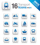 White Squares - Transportation icons