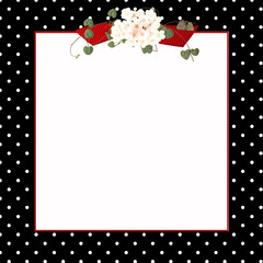 black polka dot frame