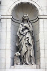 Saint Genevieve, Saint Etienne du Mont Church, Paris.