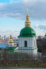 Monastery in Kiev under river Dnieper