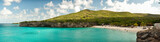 Fototapety Beautiful beach with turquoise waters in the Caribbean